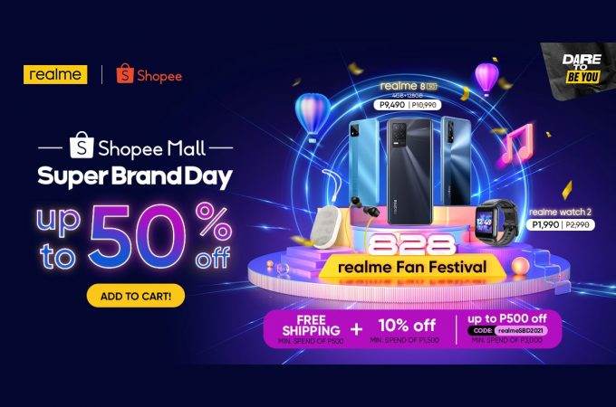 realme 50% OFF on Shopee Super Brand Day Sale