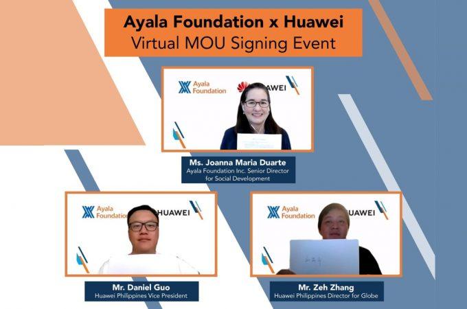 Ayala Foundation, Huawei scale up efforts towards building sustainable communities